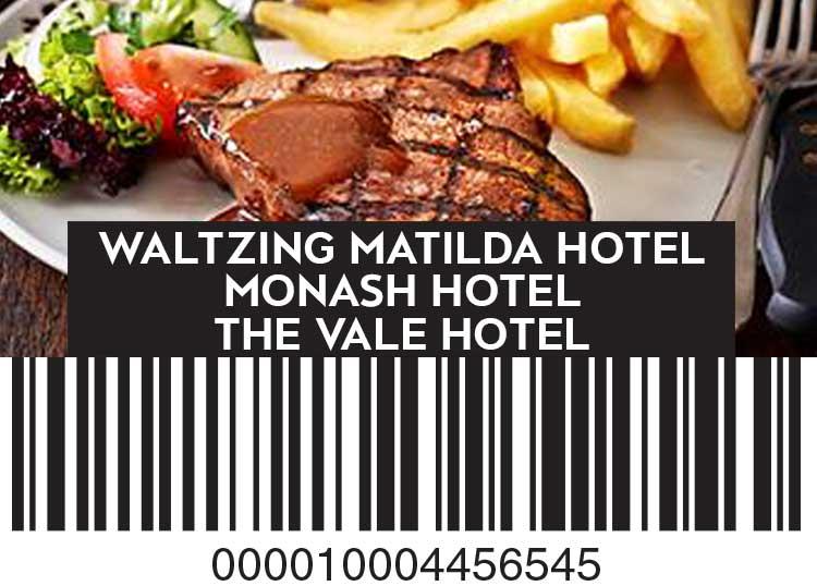 Waltzing Matilda Hotel, Monash Hotel and The Vale Hotel